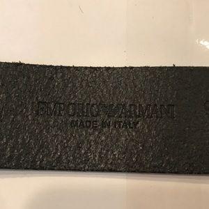 Emporio Armani Accessories - Emporio Armani Black Leather Belt Size: 38